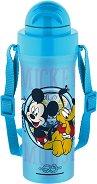 Детска бутилка с лента - Мики Маус - С вместимост 300 ml -