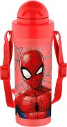 Детска бутилка с лента - Спайдърмен - С вместимост 300 ml - кутия за храна