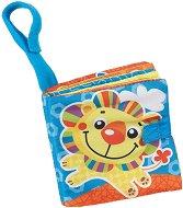 Мека книжка - Лъвче - Бебешка играчка за детска количка и столче за кола -