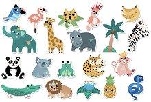 Животните от джунглата - образователен комплект