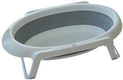Сгъваема бебешка вана за къпане с изход за оттичане -