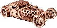 Hot Rod - Механичен 3D дървен пъзел -
