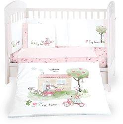 Бебешки спален комплект от 6 части - My Home - 100% ранфорс за легла с размери 60 x 120 cm или 70 x 140 cm -