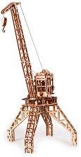 Кран - Механичен 3D дървен пъзел -