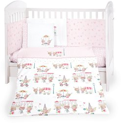 Бебешки спален комплект от 6 части - Day in Paris -