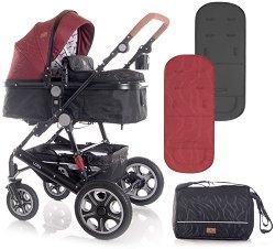 Комбинирана бебешка количка - Lora 2020 - С 4 колела -