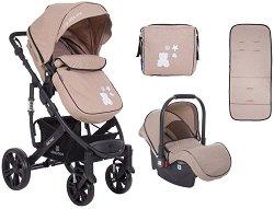 Бебешка количка 2 в 1 - Beloved - С 4 колела -