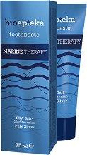 Bio Apteka Marine Therapy Toothpaste - Паста за зъби с колоидно сребро и морска сол - маска