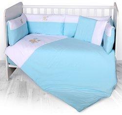 """Бебешки спален комплект от 6 части - Jersey - 100% ранфорс за легла с размери 60 x 120 cm от серията """"ZaZa"""" -"""