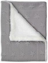 Двулицево бебешко микрофибърно одеяло - Stars - С размери 80 x 110 cm - продукт