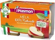 Plasmon - Пюре от ябълки - Опаковка от 2 x 104 g за бебета над 4 месеца -