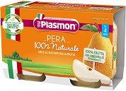 Plasmon - Пюре от круши - Опаковка от 2 x 104 g за бебета над 4 месеца -