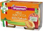 Plasmon - Пюре от ябълки и кайсии - Опаковка от 2 x 104 g за бебета над 6 месеца - пюре
