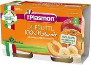 Plasmon - Пюре от плодов микс - Опаковка от 2 x 104 g за бебета над 6 месеца - пюре