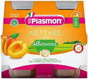 Plasmon - Сок от кайсии - Опаковка от 4 бутилки x 125 ml за бебета над 6 месеца -