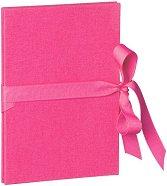 Фотоалбум - Leporello Classic: Pink - 14 страници с размери 12.1 х 17.6 cm -