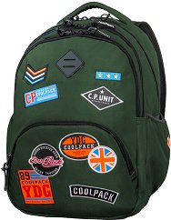 Ученическа раница - Bentley: Badges Green - раница