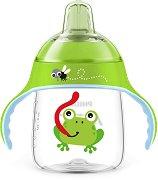 Неразливаща се чаша с мек накрайник и дръжки - 260 ml - За бебета над 12 месеца -