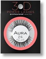 Aura 3D Power Lashes Selfie 24 - Изкуствени мигли с 3D ефект -