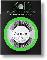 Aura 3D Power Lashes Boomerang 26 - Изкуствени мигли с 3D ефект - душ гел