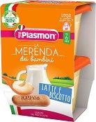 Plasmon - Млечен десерт с бишкоти -