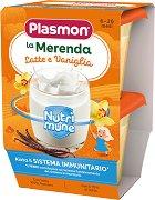 Plasmon - Млечен десерт с ванилия - Опаковка от 2 х 120 g за бебета над 6 месеца -