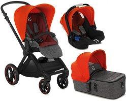 Бебешка количка 3 в 1 - Muum Koos iSize Micro 2020 - С 4 колела -