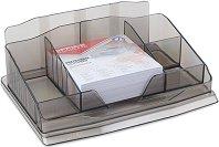 Органайзер за бюро с 6 отделения - Комплект с 1 хартиено кубче