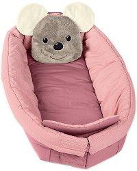 Бебешка подложка-ограничител 6 в 1 - Мишлето Mabel - За бебета от 0+ до 36 месеца -