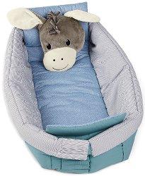 Бебешка подложка-ограничител 6 в 1 - Магаренцето Erik - За бебета от 0+ до 36 месеца -