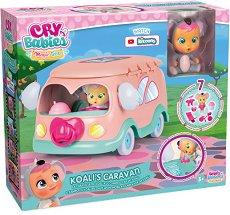 Cry Babies: Magic Tears - Кемперът на Коали - Плачеща мини кукла бебе с аксесоари - кукла