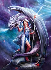 Магьосница и дракон - Ан Стоукс (Anne Stokes) - пъзел