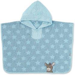 Детски халат тип пончо - Erik - 100% памук с размери 50 x 70 cm -