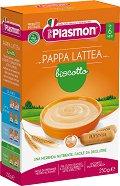 Plasmon - Инстантна млечна каша с бишкоти - Опаковка от 250 g за бебета над 6 месеца -
