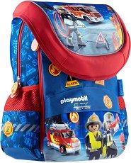 Ученическа раница - Playmobil: Firefighters -
