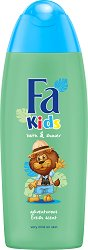 Fa Kids Lion Boys Bath & Shower Gel - Детски душ гел и пяна за вана за момчета - крем