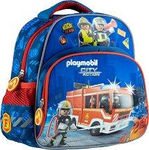Раница за детска градина - Playmobil: Firefighters - раница