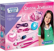 """Направи сама - Бижута с кристали - Творчески комплект от серията """"Clementoni: Science"""" -"""