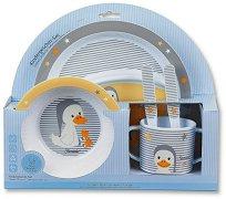 Детски комплект за хранене - Hanno & Edda - чадър