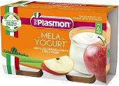 Plasmon - Пюре от йогурт с ябълки - Опаковка от 2 x 120 g за бебета над 6 месеца -