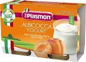 Plasmon - Пюре от йогурт с кайсии - Опаковка от 2 x 120 g за бебета над 6 месеца -