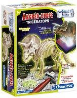 """Открий и сглоби скелет на динозавър - Трицератопс - Детски образователен комплект от серията """"Clementoni: Science"""" - образователен комплект"""