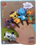 Кукли за пръстче - Диви животни - Комплект от 5 играчка за куклен театър -