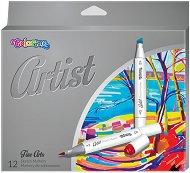 Маркери за рисуване - Artist - Комплект от 12 цвята