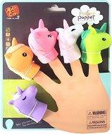 Кукли за пръстче - Еднорози - Комплект от 5 играчка за куклен театър -