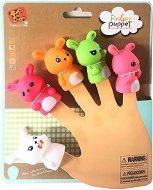 Кукли за пръстче - Зайчета - Комплект от 5 играчка за куклен театър -