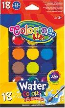 Акварелни бои - Палитра от 18 цвята