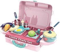 Кухня - Детски комплект с аксесоари в куфар -