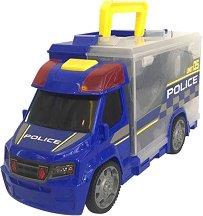 Полицейски камион - Куфарче - Детски комплект за игра -