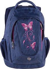 Ученическа раница - Music Jeans Butterfly - раница